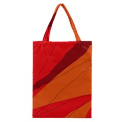 Red And Orange Decorative Abstraction Classic Tote Bag by Valentinaart