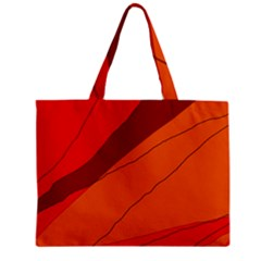Red And Orange Decorative Abstraction Zipper Mini Tote Bag by Valentinaart