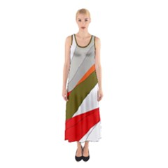 Decorative Abstraction Sleeveless Maxi Dress by Valentinaart