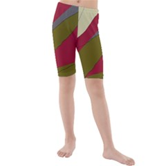 Decoratve Abstraction Kid s Mid Length Swim Shorts