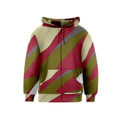 Decoratve Abstraction Kids  Zipper Hoodie