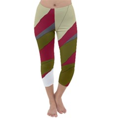 Decoratve Abstraction Capri Winter Leggings