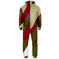 Decoratve Abstraction Hooded Jumpsuit (men)