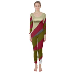 Decoratve Abstraction Long Sleeve Catsuit by Valentinaart