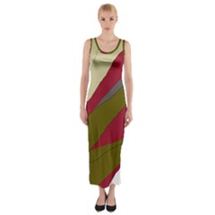Decoratve Abstraction Fitted Maxi Dress by Valentinaart