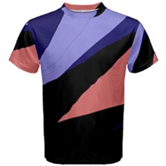 Purple And Pink Abstraction Men s Cotton Tee by Valentinaart