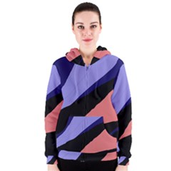 Purple And Pink Abstraction Women s Zipper Hoodie by Valentinaart