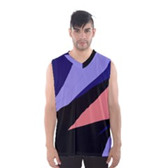 Purple And Pink Abstraction Men s Basketball Tank Top by Valentinaart