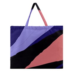 Purple And Pink Abstraction Zipper Large Tote Bag by Valentinaart