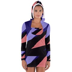 Purple And Pink Abstraction Women s Long Sleeve Hooded T-shirt by Valentinaart
