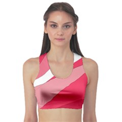 Pink Abstraction Sports Bra by Valentinaart