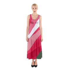 Pink Abstraction Sleeveless Maxi Dress by Valentinaart