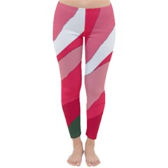 Pink Abstraction Winter Leggings  by Valentinaart