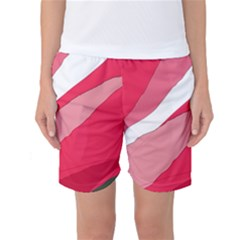 Pink Abstraction Women s Basketball Shorts by Valentinaart