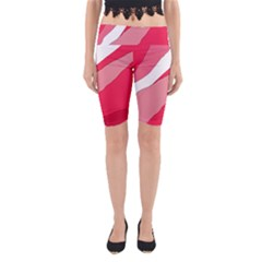 Pink Abstraction Yoga Cropped Leggings by Valentinaart
