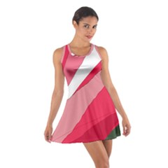 Pink Abstraction Racerback Dresses by Valentinaart