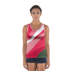 Pink Abstraction Women s Sport Tank Top  by Valentinaart