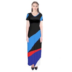 Colorful Abstraction Short Sleeve Maxi Dress by Valentinaart