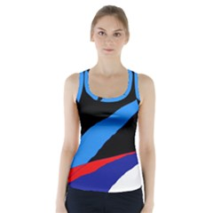 Colorful Abstraction Racer Back Sports Top by Valentinaart