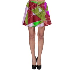 Flora Abstraction Skater Skirt by Valentinaart