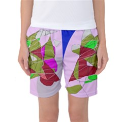 Flora Abstraction Women s Basketball Shorts by Valentinaart