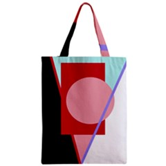 Decorative Geomeric Abstraction Zipper Classic Tote Bag by Valentinaart