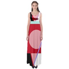 Decorative Geomeric Abstraction Empire Waist Maxi Dress by Valentinaart