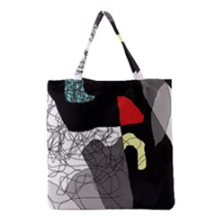 Decorative Abstraction Grocery Tote Bag by Valentinaart