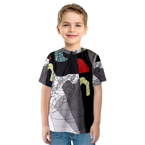Decorative Abstraction Kid s Sport Mesh Tee by Valentinaart