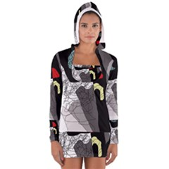 Decorative Abstraction Women s Long Sleeve Hooded T-shirt by Valentinaart