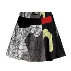 Decorative Abstraction Mini Flare Skirt by Valentinaart