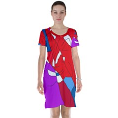Colorful Abstraction Short Sleeve Nightdress by Valentinaart