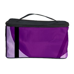Purple Geometrical Abstraction Cosmetic Storage Case by Valentinaart