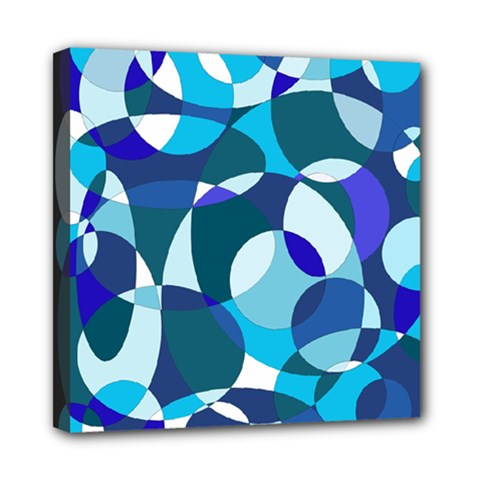 Blue Abstraction Mini Canvas 8  X 8  by Valentinaart