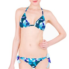 Blue Abstraction Bikini Set by Valentinaart