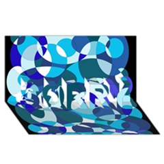 Blue Abstraction Sorry 3d Greeting Card (8x4)  by Valentinaart