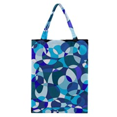 Blue Abstraction Classic Tote Bag by Valentinaart