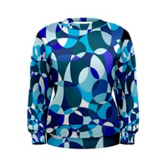 Blue Abstraction Women s Sweatshirt by Valentinaart