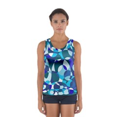 Blue Abstraction Women s Sport Tank Top  by Valentinaart