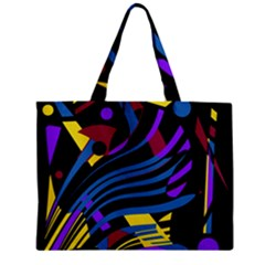 Optimistic Abstraction Zipper Mini Tote Bag by Valentinaart