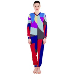 Crazy Abstraction Onepiece Jumpsuit (ladies)  by Valentinaart