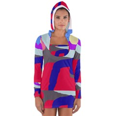 Crazy Abstraction Women s Long Sleeve Hooded T Shirt by Valentinaart