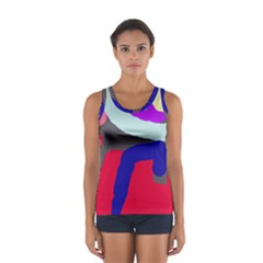 Crazy Abstraction Women s Sport Tank Top  by Valentinaart