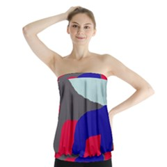 Crazy Abstraction Strapless Top by Valentinaart
