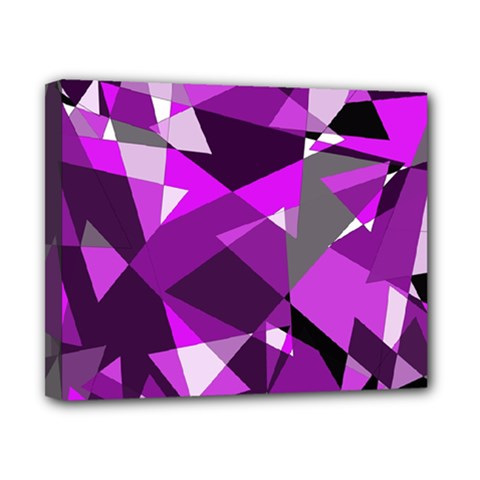 Purple Broken Glass Canvas 10  X 8  by Valentinaart