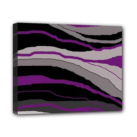 Purple And Gray Decorative Design Canvas 10  X 8  by Valentinaart