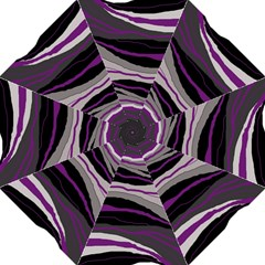 Purple And Gray Decorative Design Hook Handle Umbrellas (large) by Valentinaart