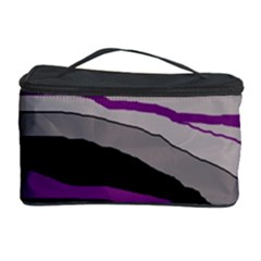 Purple And Gray Decorative Design Cosmetic Storage Case by Valentinaart