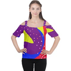 Optimistic Abstraction Women s Cutout Shoulder Tee by Valentinaart