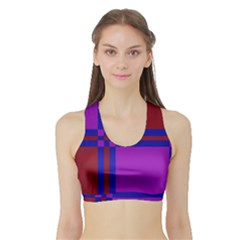 Deorative Design Sports Bra With Border by Valentinaart